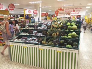 """Supermarket sales rose for the seventh straight month in June, but Asda is """"falling behind its peer group,"""" according to new figures."""